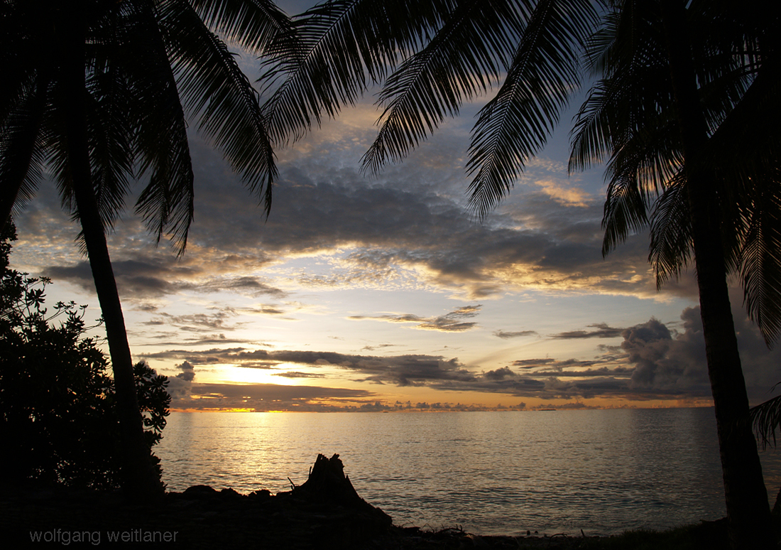 Sunset-Beach, Funafuti-Atoll, Tuvalu
