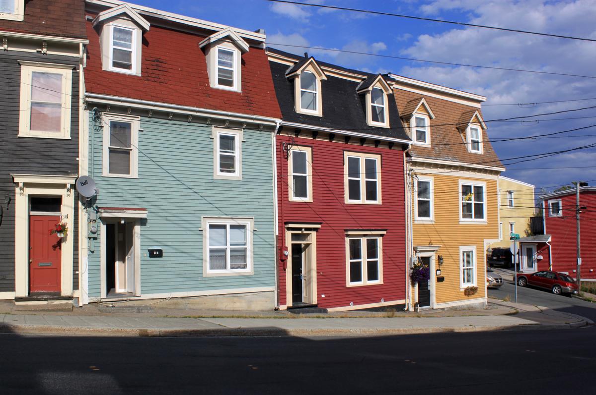 Holzhäuser in St. John's, Neufundland
