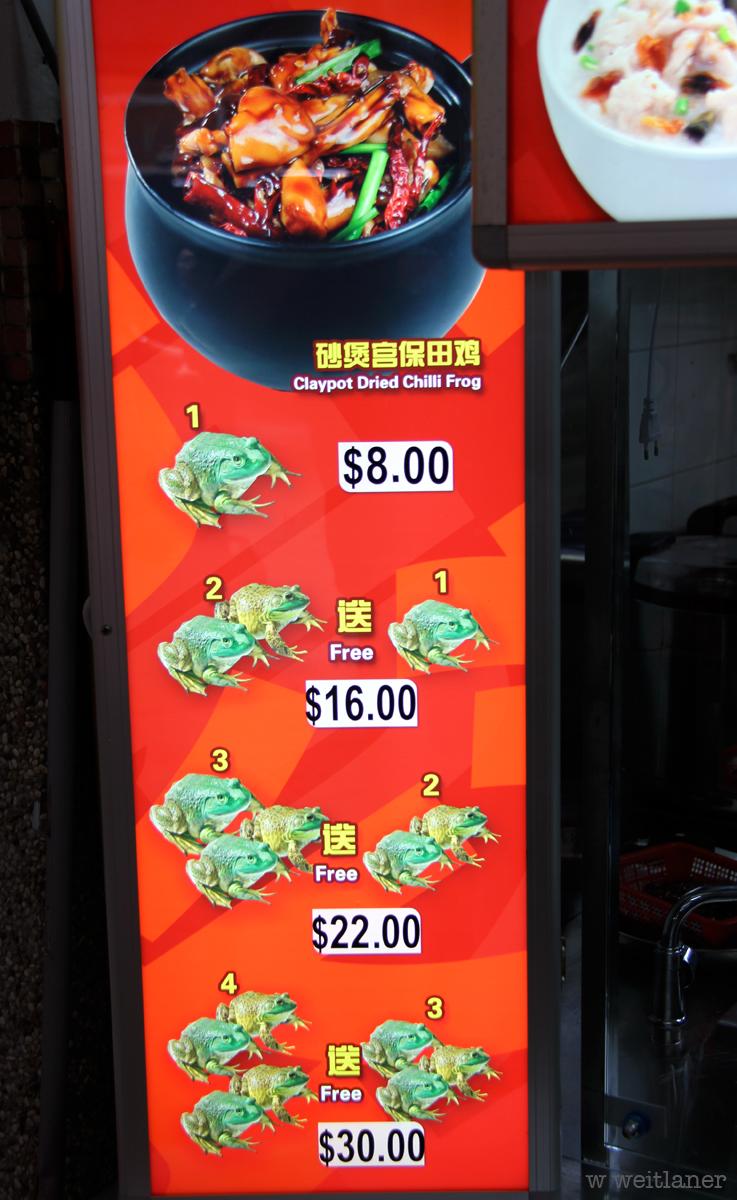 Frosch im tontopf - Singapur