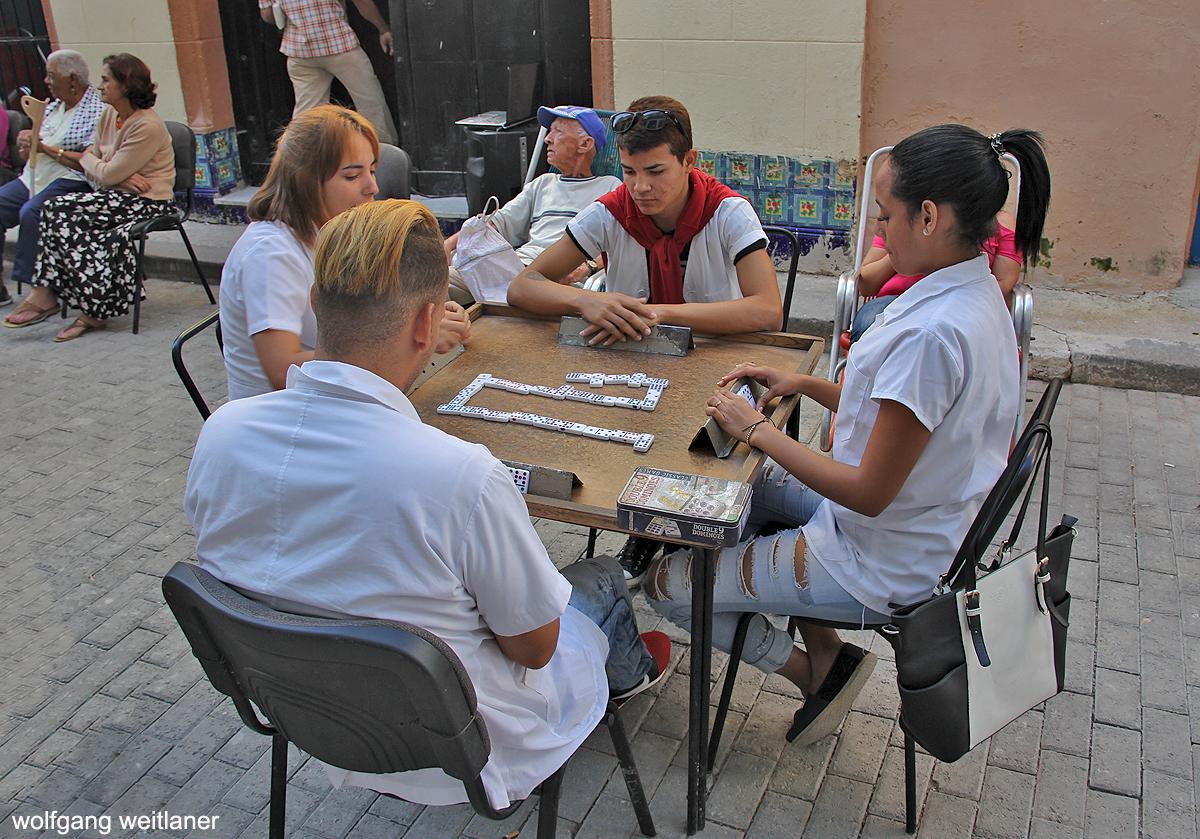 Domino-Partie in Havanna, Kuba