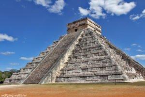 Pyramide des Kukulcán, Chichén Itzá, Yucatan, Mexiko