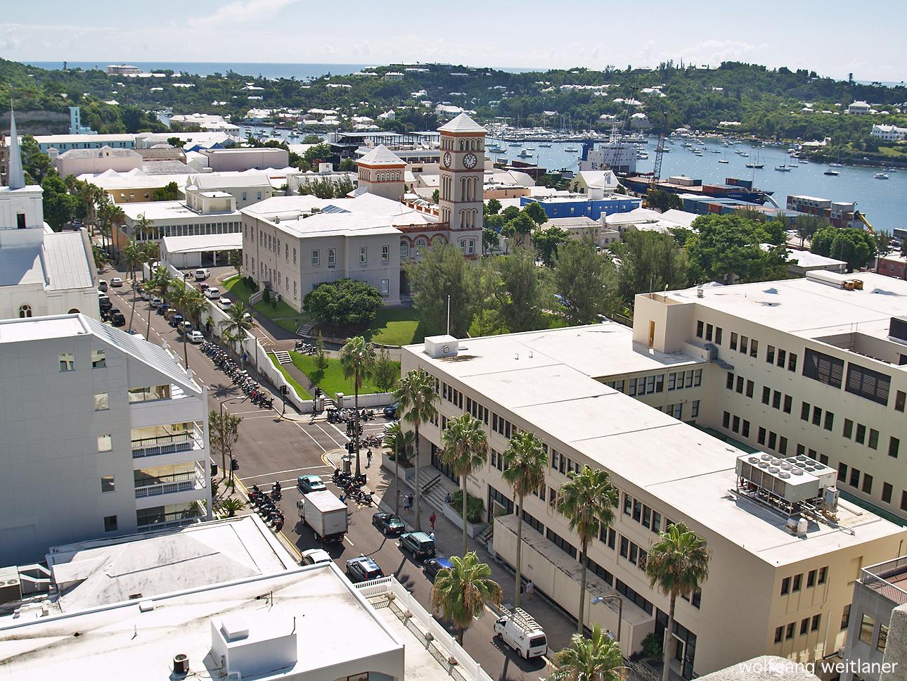 Blick über Bermuda, Hamilton, Bermuda