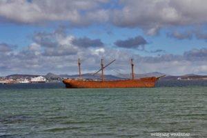 Schiffswracks im Stanley-Harbour, Falkland Inseln, Südatlantik