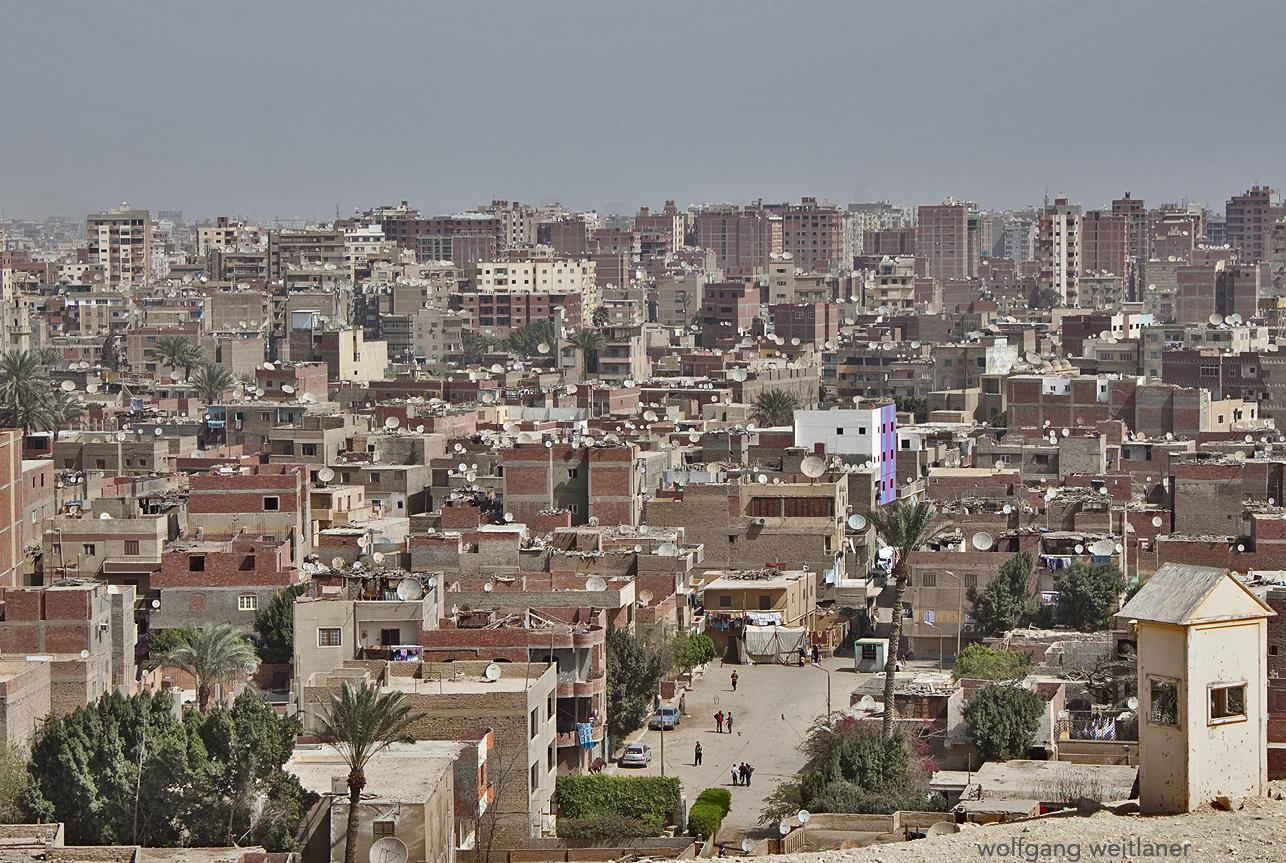Blick über Gizeh, Kairo, Ägypten