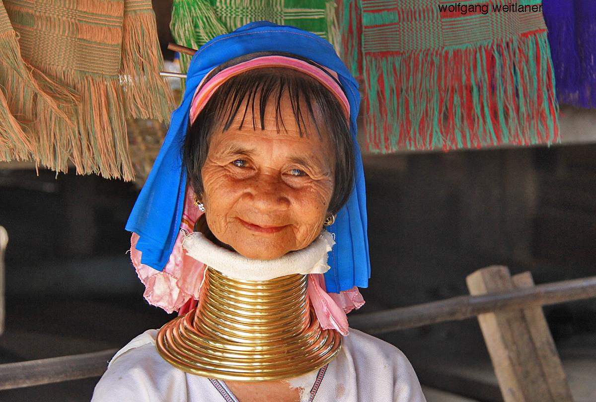 Padaung-Frau in Nai Soi, Mae Hong Son, Thailand