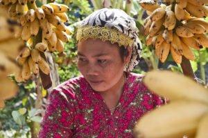 Junge Frau im Cham-Village, Mekong-Delta, Vietnam