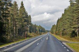 Von Umeå nach Ammarnäs, Västerbotten, Nordschweden