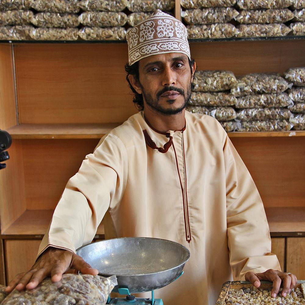 Weihrauch-Händler im Sukh, Salalah, Oman