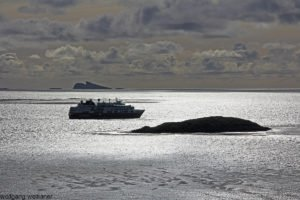 Sommer-Himmel über Carcass Island, Falkland Inseln, Südatlantik