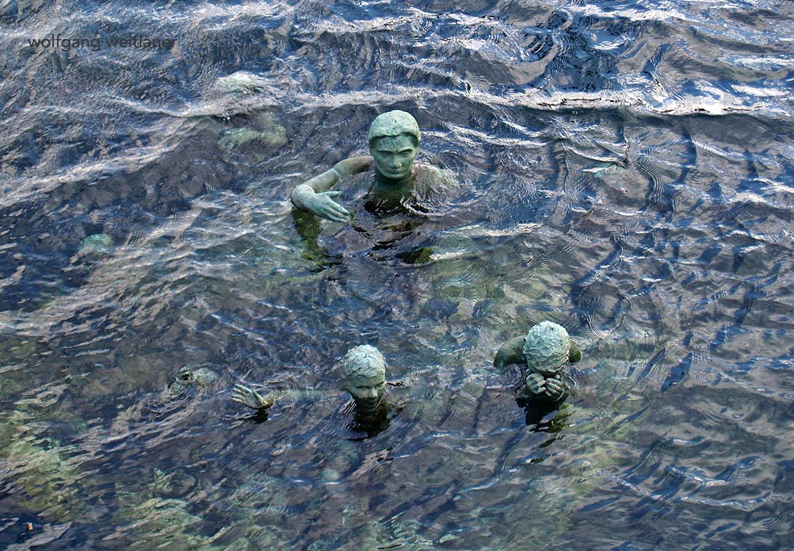 """Skulpturen """"Die Flüchtlinge"""", Kopenhagen, Dänemark"""