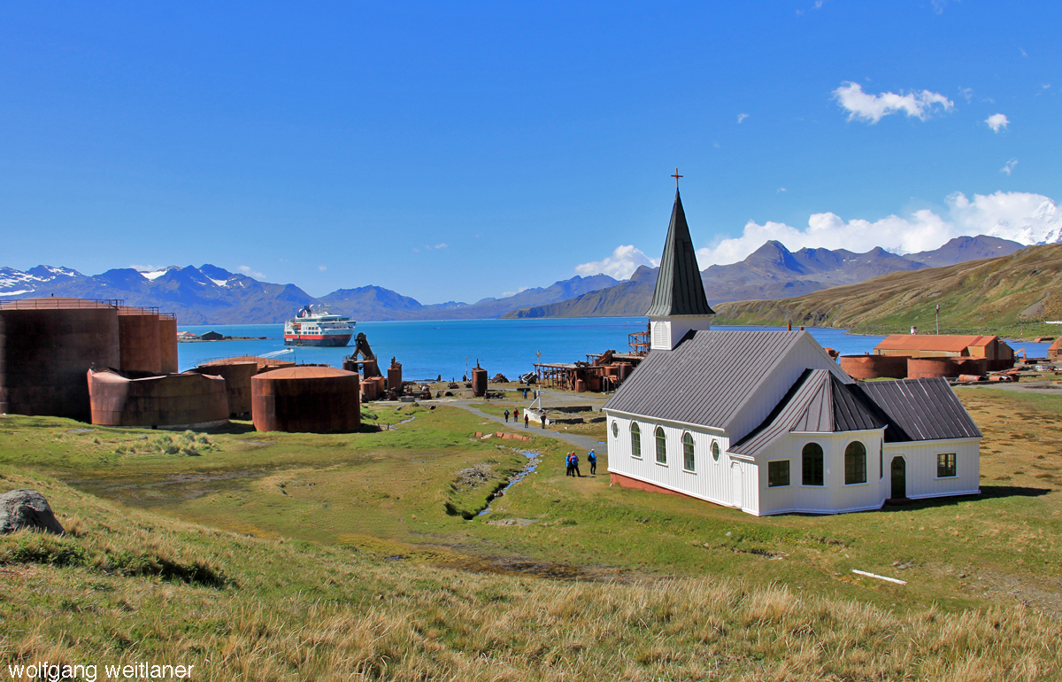 Whaler's Church, Grytviken, South Georgia, Antarctica
