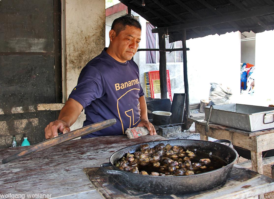 Fleischer in einem Dorf nahe Cobá, Quintana Roo, Mexiko