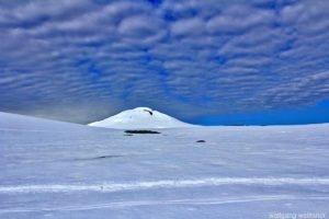Himmel über Damoy, Dorian Bay, Wiencke Island, Antarctica