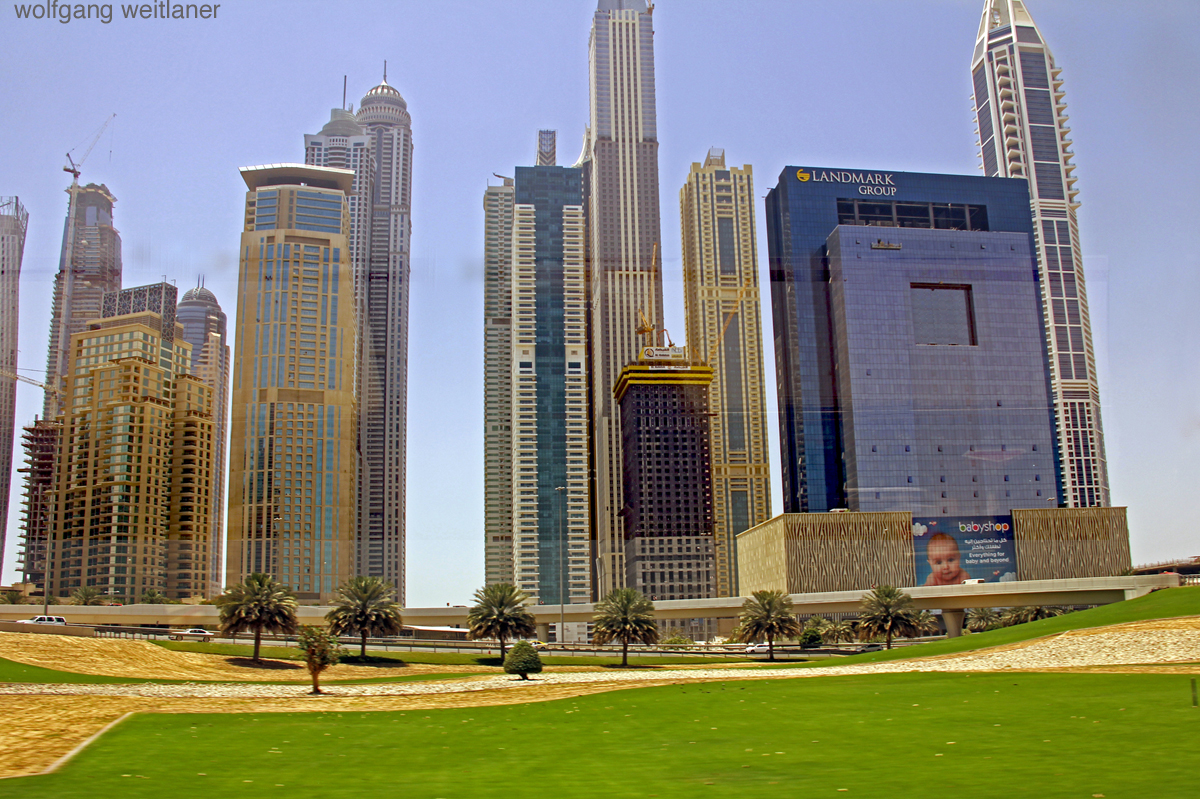 Dubai Busfenster
