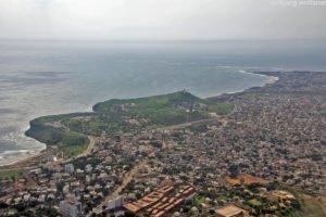 Flug über Dakar, Senegal, Westafrika