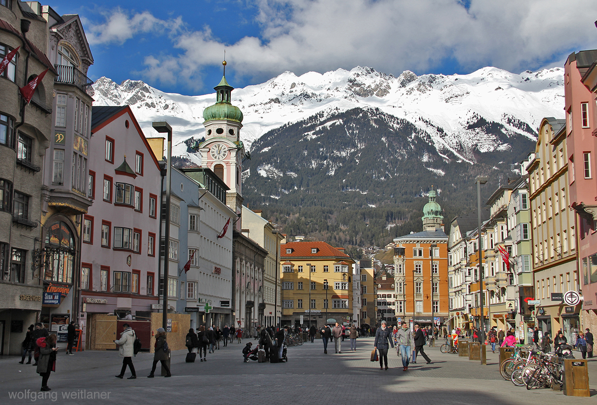 Hauptplatz Innsbruck, Tirol, Österreich