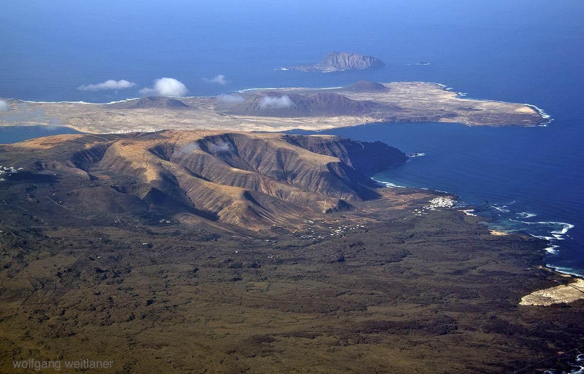 Abflug von Lanzarote, Kanarische Inseln, Spanien
