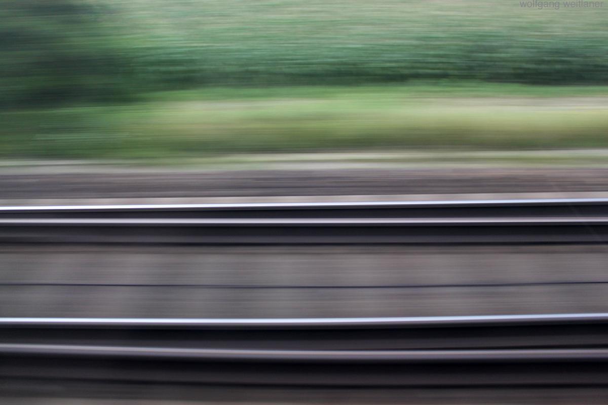 Aus dem Zug, westbahn