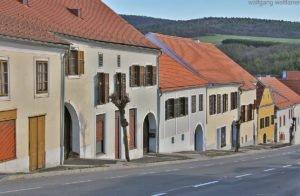Häuser in Stadtschlaining, Burgenland, Österreich