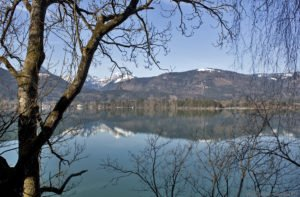 Blick über den Wolfgangsee, Salzkammergut, Oberösterreich
