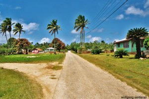 Dorfstrasse am Sonntag, Pangai, Lifuka, Ha'apai, Tonga
