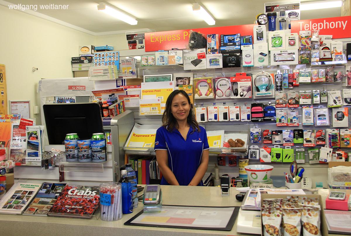 Zu Besuch auf der Post: Christmas Island, West-Australien