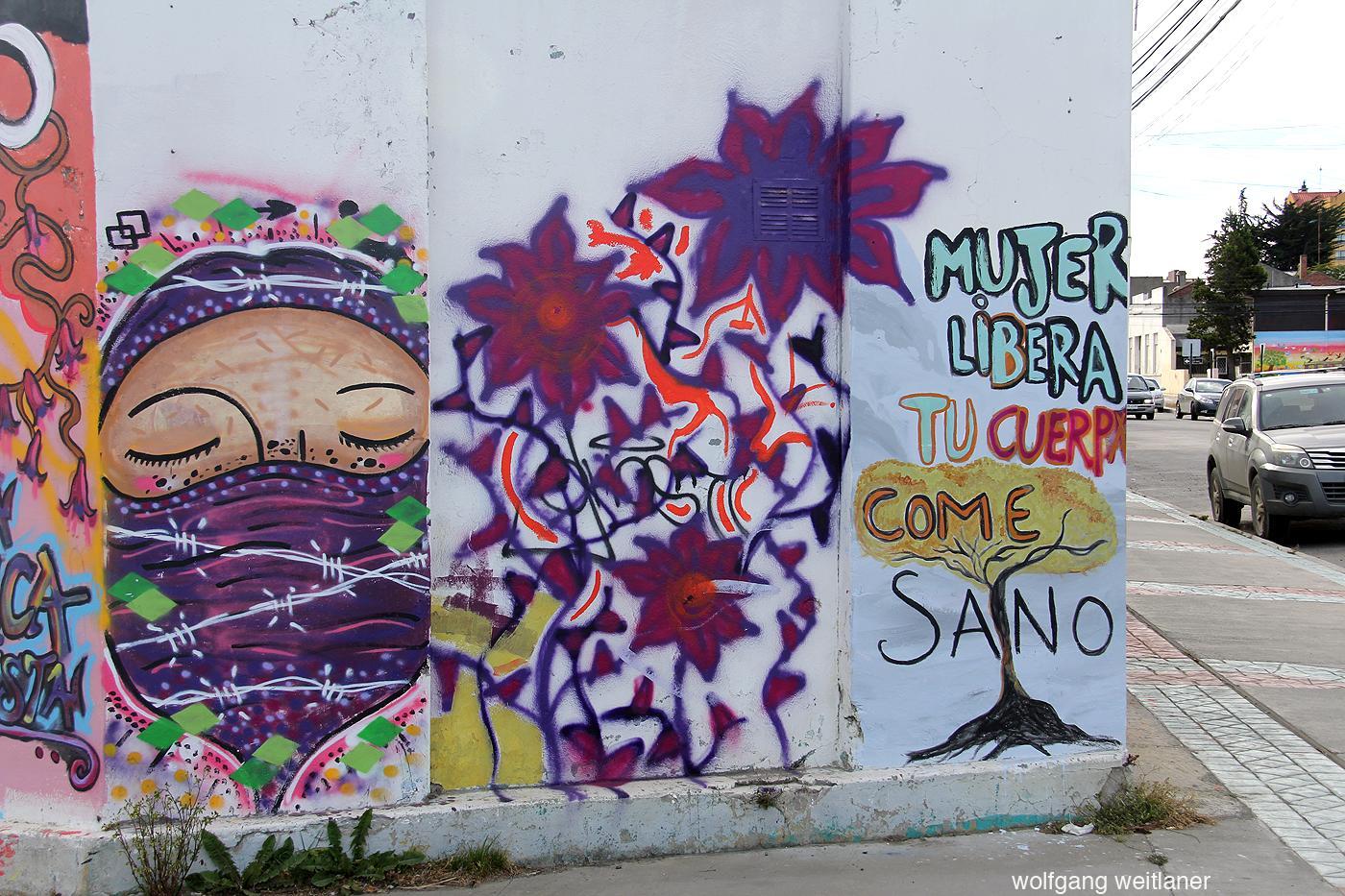 Murales, graffiti Punta Arenas