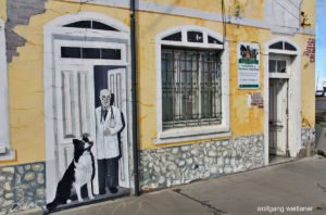 Murales in Punta Arenas, Tierra del Fuego, Chile