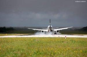 Landeanflug, Niue International Airport, Südpazifik