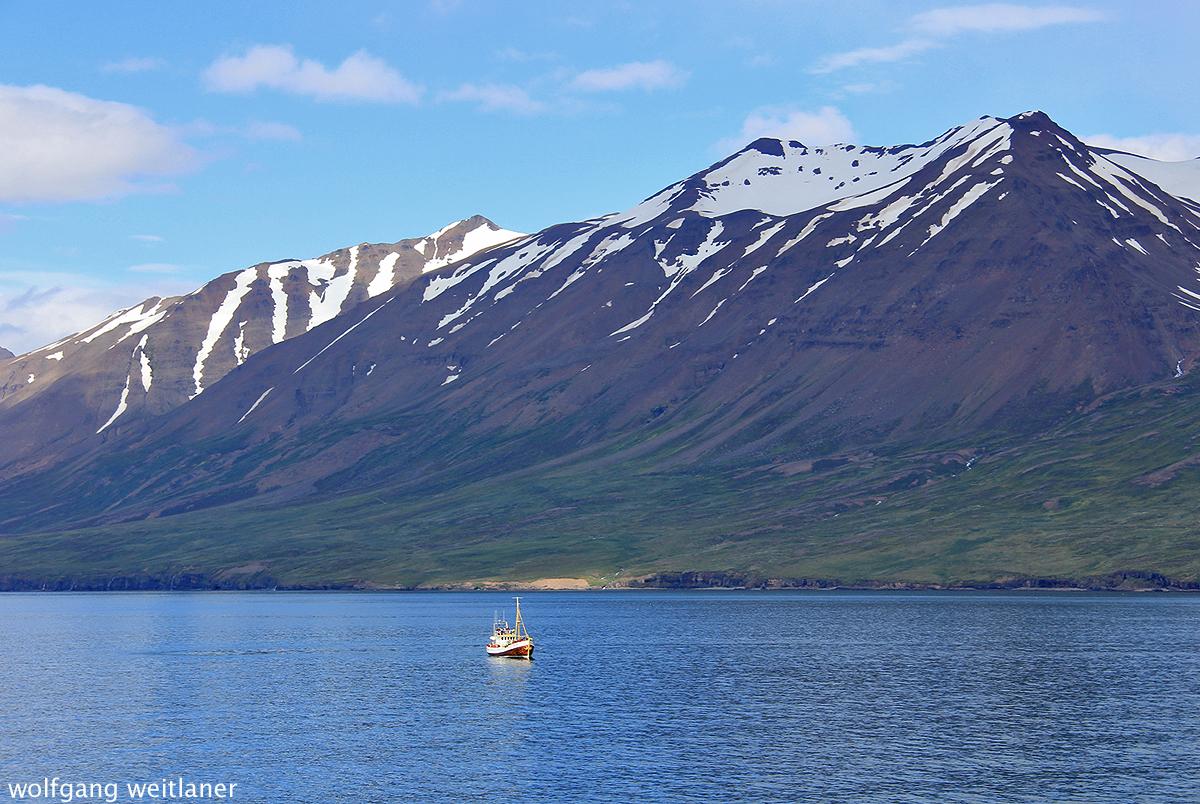 Eyjafjördur nahe Akureyri, Island