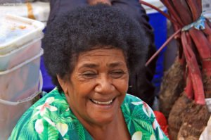 Portrait einer Frau, Suva Municipal Market, Fiji
