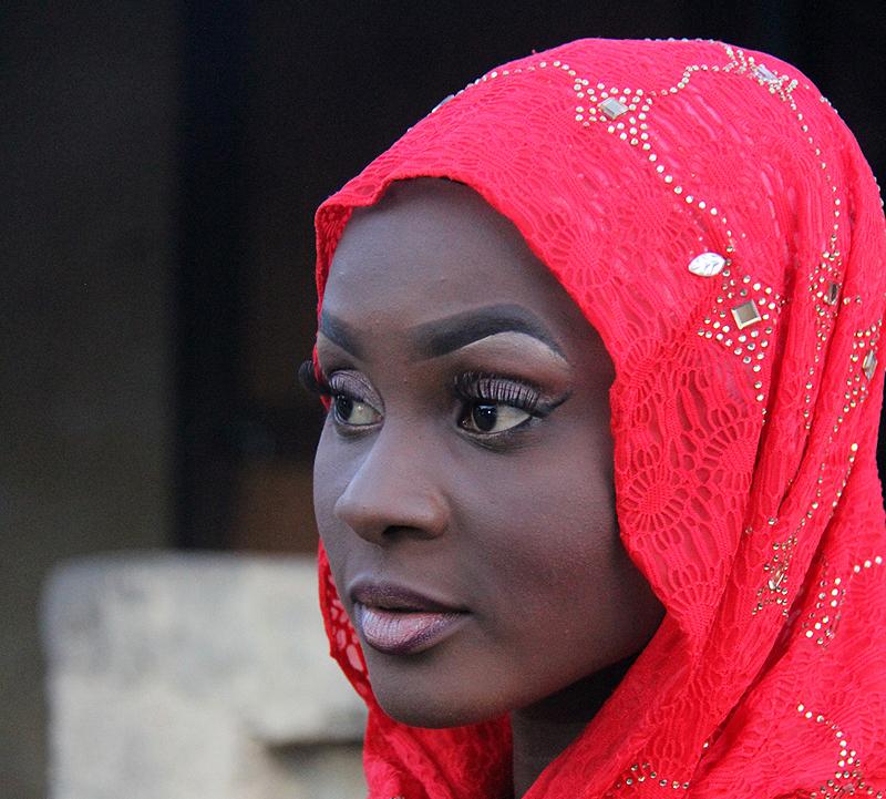 Portrait einer Braut, Banjul, Gambia