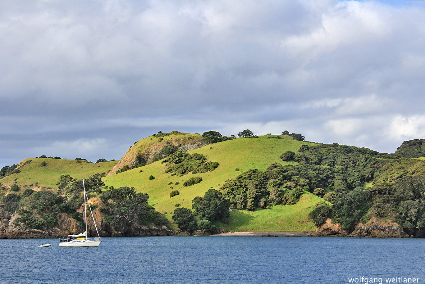 Herbsttag, Bay of Islands, Neuseeland