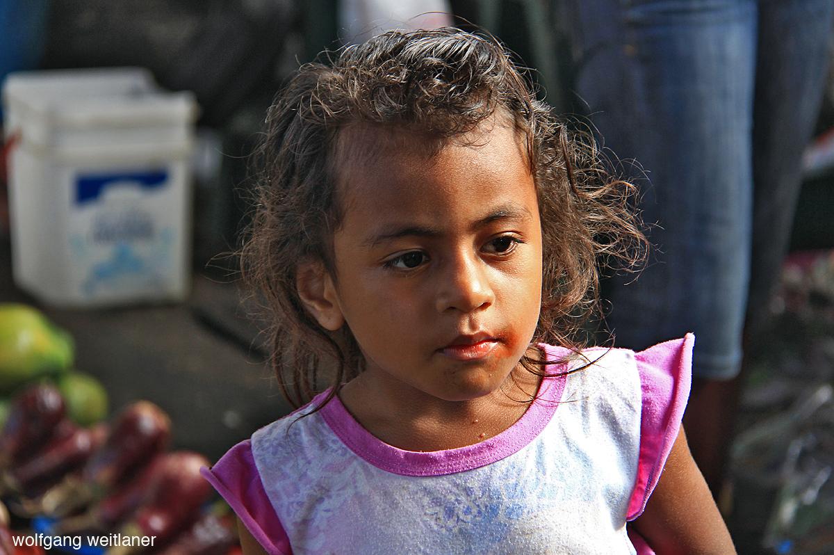 Mädchen Fiji Suva Markt