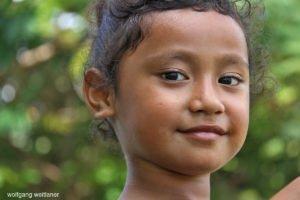 Portrait eines Mädchens, Niue, Südsee