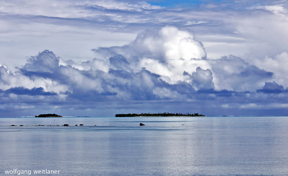 Himmel über der Lagune, Aitutaki, Cook Inseln