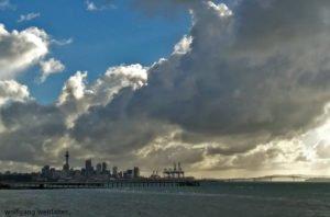 Himmel über Auckland, Auckland, Neuseeland