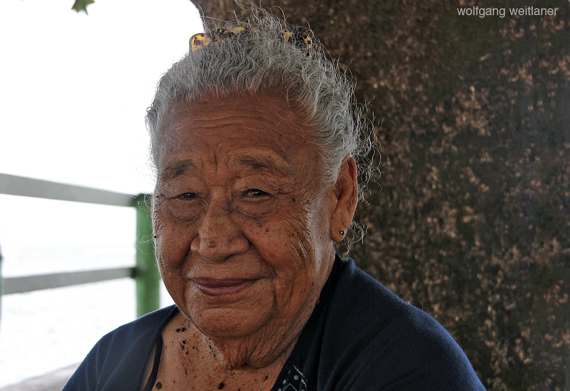 Portrait einer alten Frau, Savai'i, Samoa