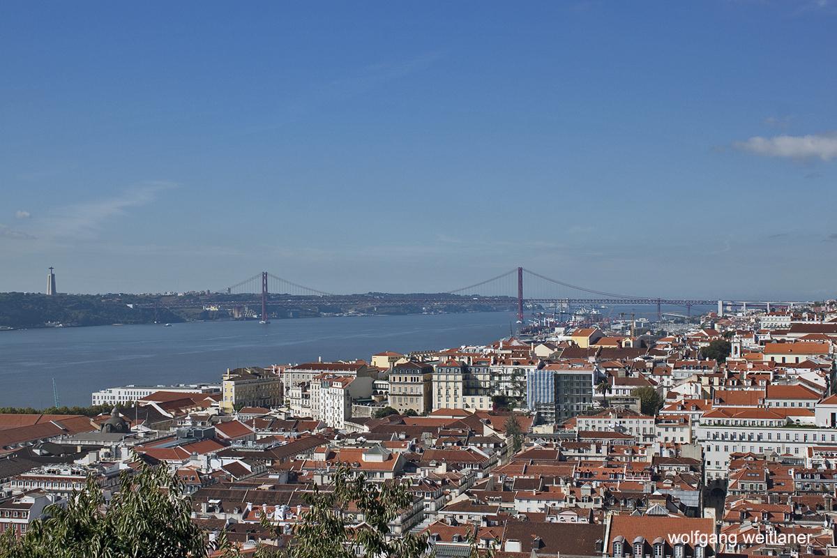Blick auf Lissabon Tejo