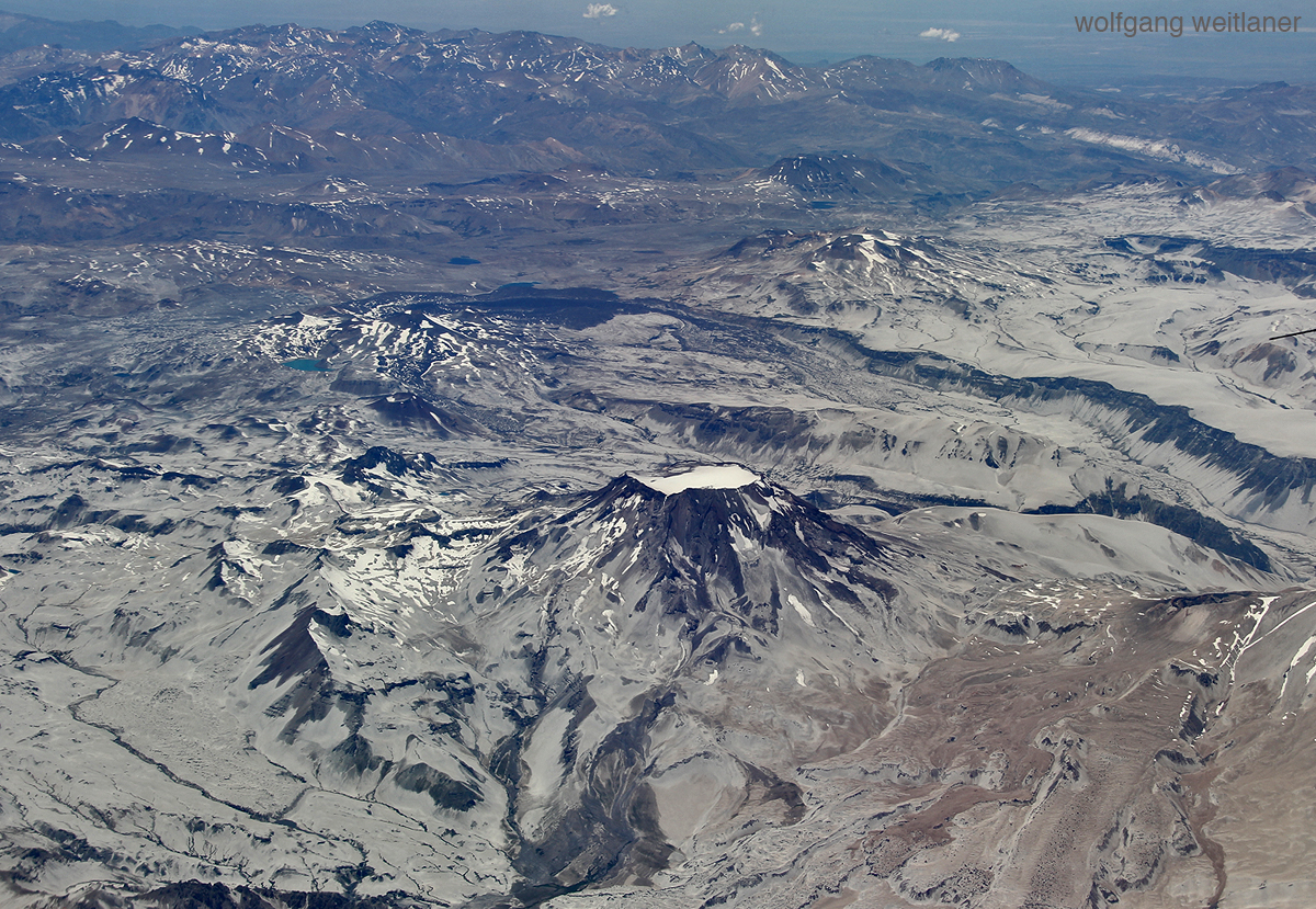 Flug über die Anden, Santiago nach Punta Arenas, Chile