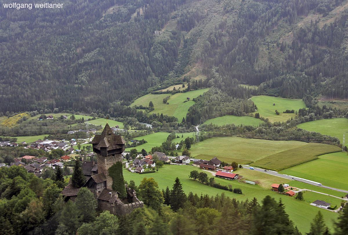 Burg Falkenstein, Obervellach, Mölltal, Kärnten, Österreich