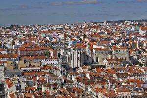 Blick über Lissabon, Castelo de São Jorge, Lissabon