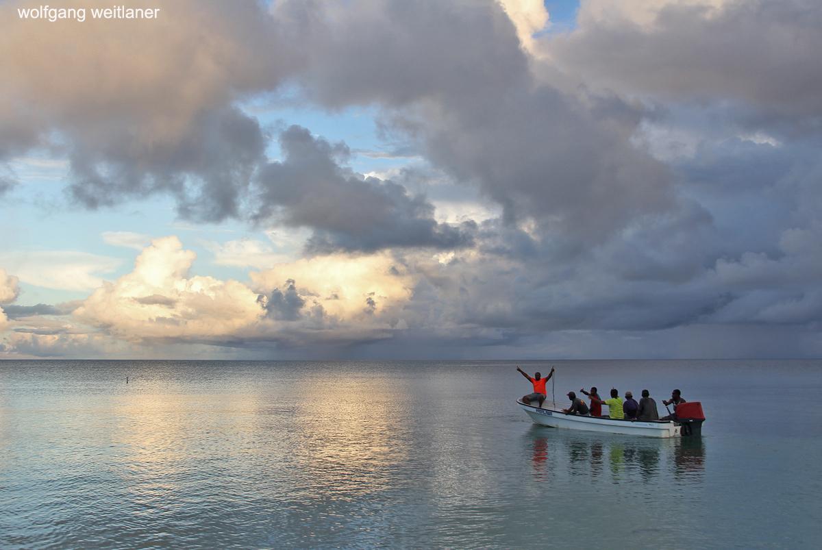 Heimfahrt, Drawaqa, Yasawas, Fiji, Südsee