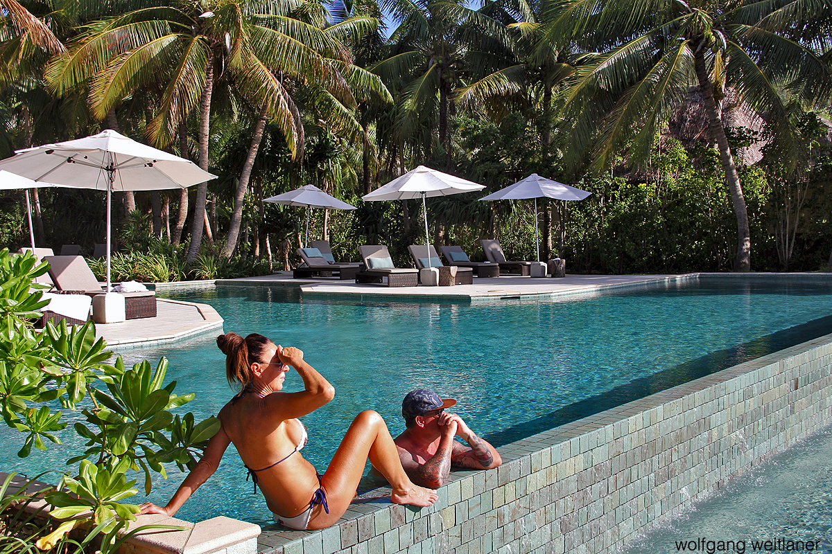 Zwei Urlauber Fiji likuliku