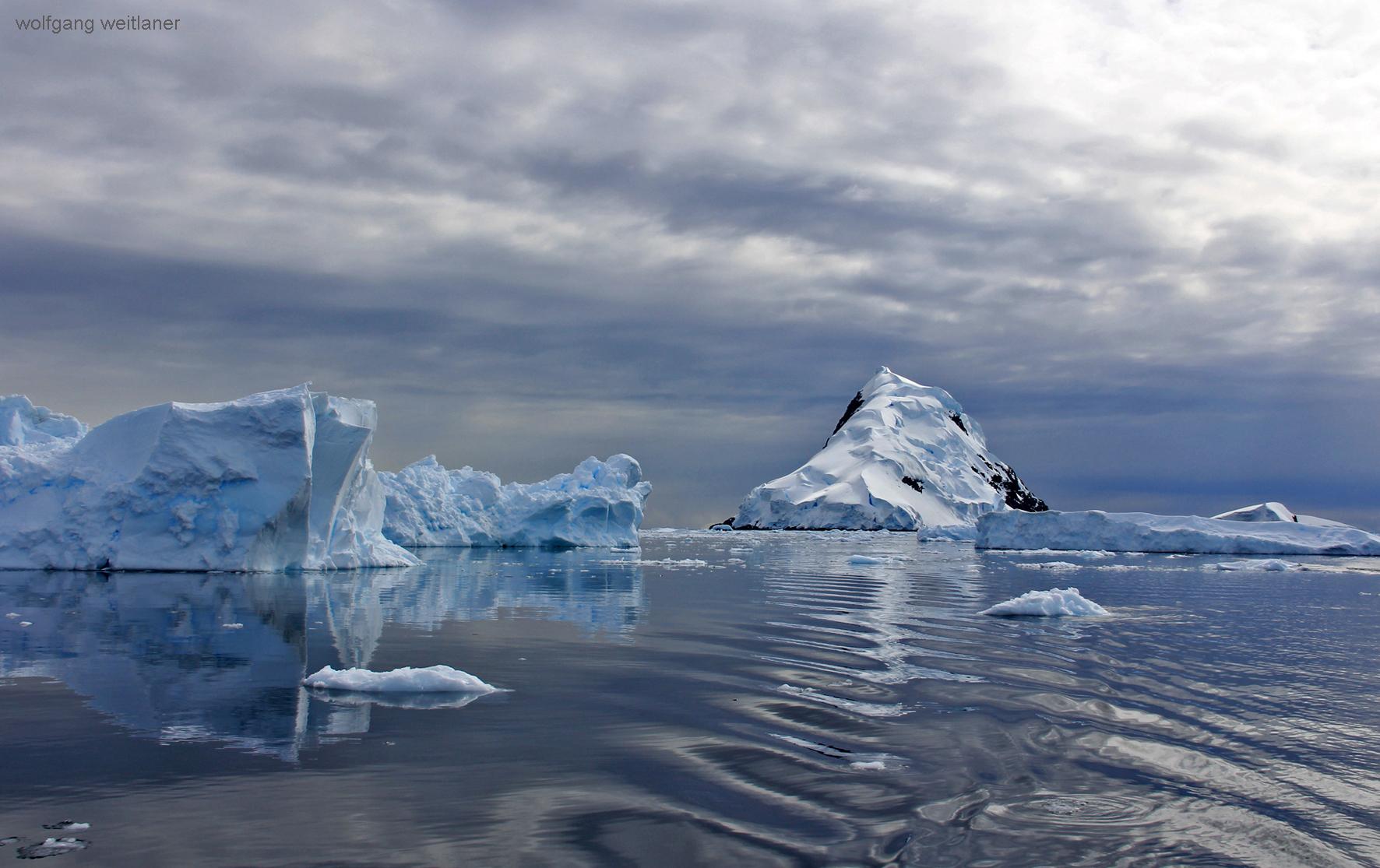 Der Himmel über Wilhelmina Bay, Antarctica/Antarktis