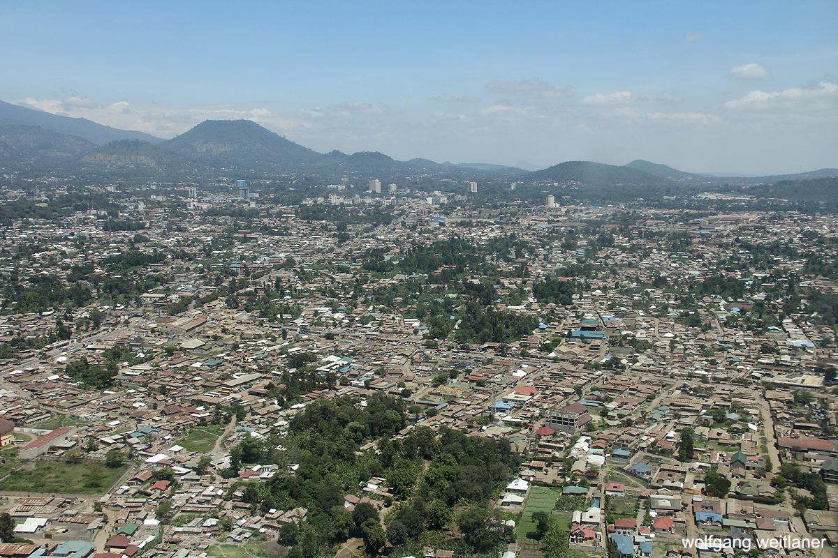 Blick über Arusha