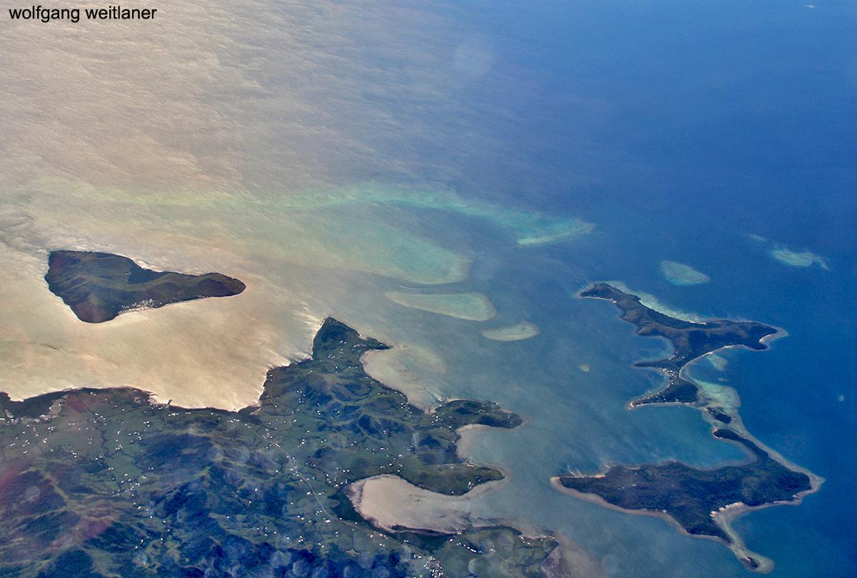 Die Welt von oben: Malake und Nananu-I-Ra, Viti Levu, Fiji