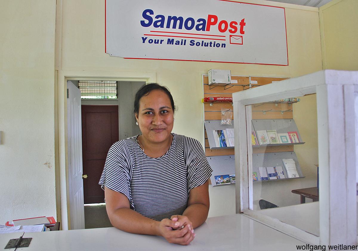 Postmeisterin Fagamalo, Savaii, Samoa, Südsee