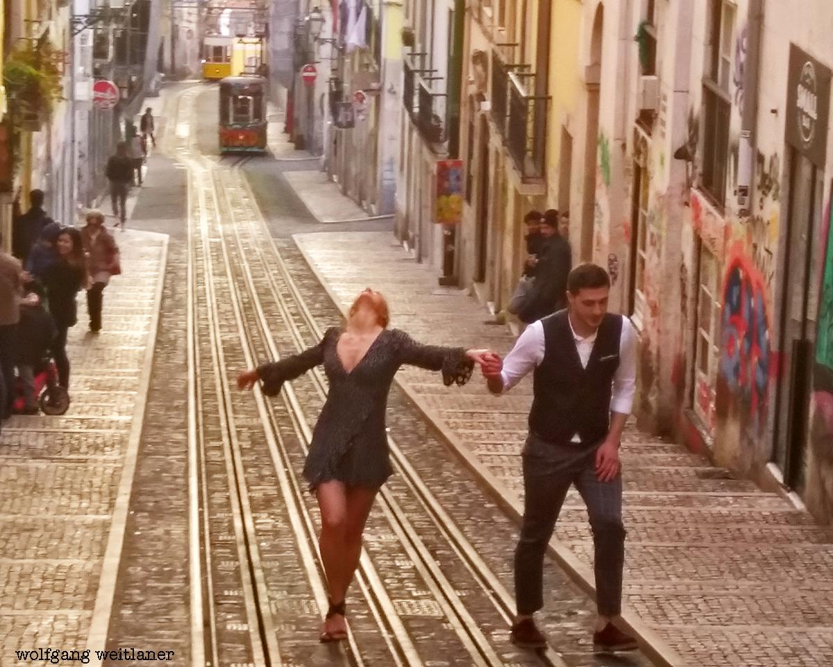 Straßenszene in Lissabon, Lissabon, Portugal