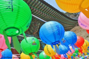 Lotus-Laternenfest, Woljeongsa Tempel, Gangwon-Do, Korea